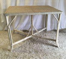 Table en rotin – début XXème