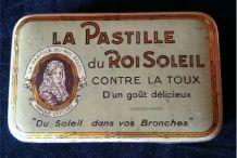 Boite Métal - LA PASTILLE DU ROI SOLEIL CONTRE LA TOUX - D'U