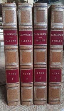 Fables de la La Fontaine 4 Vol. Illustré par J.J. Grandville