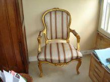 Magnifique salon style louis XV doré 1banquette 2 fauteuils