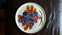 Plat à tarte motif les raisins