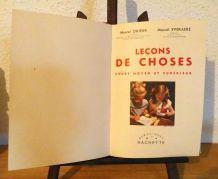 """Ancien livre scolaire """"Leçons de choses"""" 1956"""