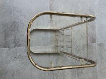 Bout de canapé porte revue métal doré vintage