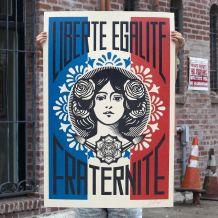 Liberté Égalité Fraternité de Shepard Fairey