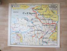Carte scolaire Vidal Lablache, Librairie Armand Collin
