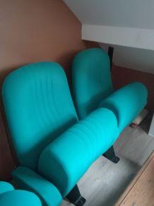 4 sièges cinéma verts
