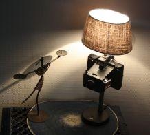 "LAMPE A POSER RECUP' VINTAGE ""POLAROID"" 6"
