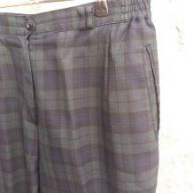 Pantalon à carreaux vintage