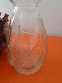 vase à jacinthe bulbe ART DECO verre blanc