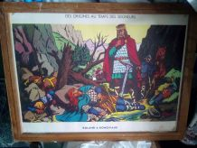 TABLEAU SCOLAIRE EN BOIS ANNEE 1950