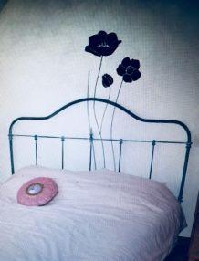 Tête de lit en fer forgé