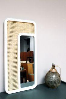 Miroir cannage style vintage Breuer Cesca