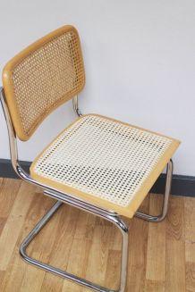 Chaise vintage dlg Cesca B32 de Marcel Breuer