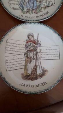 assiette ancienne de collection La Mère Michelle