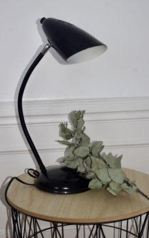Lampe vintage Alluminor métal noir années 70