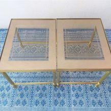 Tables basses rétro Maison Jansen vintage