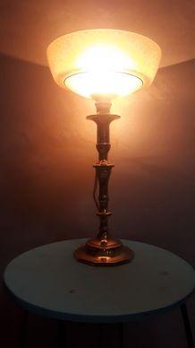 lampe  bronze type calice 1930  art deco