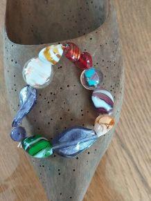 Bracelet en perles de verre