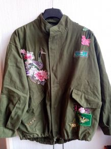 Veste type militaire broderie