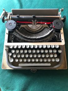 Machine à écrire portative JAPY, Vintage, année 1950