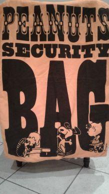 Grand sac tissu année 1969 Peanut SCHULTZ