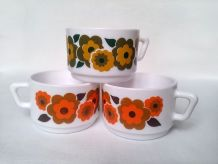 Tasses Arcopal de la collection Lotus lot de 3