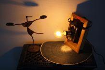 "LAMPE A POSER RECUP' ""CADRE PHOTO"""