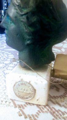 Buste d'Aphrodite en métal couleur bronze copie du musée