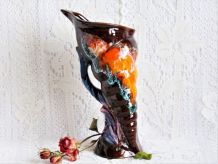 Vase corne d'abondance, vase coquillage, décor de maison.