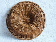Corbeille à pain en osier, ancienne corbeille de boulangerie
