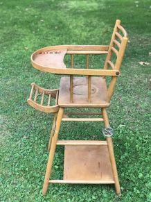 Chaise haute bébé
