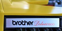 Machine à écrire Brother Deluxe800 - vintage 70 80