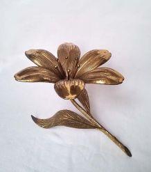 Cendrier en laiton doré fleur de lys