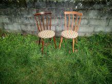 10 Chaises style baumann 60's 70's