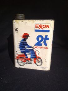 Ancien bidon huile 2T Exxon