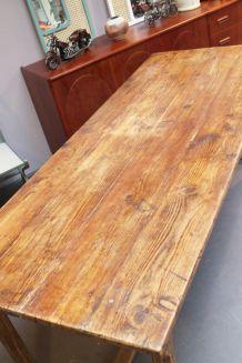 Table de ferme vintage ancienne 2 mètre