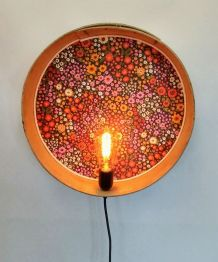 "Applique vintage, lampe murale ""Flower Power"""