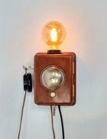 """Lampe murale industrielle, Applique vintage - """"Call Me !"""""""
