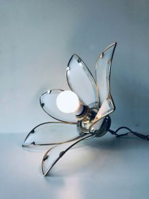 Suspension art déco fleur en verre
