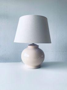 Grosse lampe céramique rose poudré