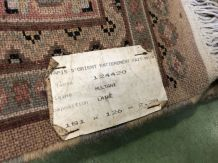 Tapis pakistanais en laine et soie fait main - 1m81x1m26