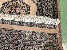 Tapis de couloir pakistanais fait main en laine et soie