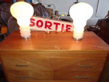 Paire de lampes ampoules 1960