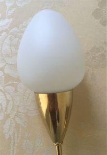 Applique torche vintage 2 lampes années 50-60