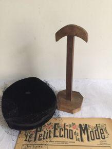 Porte-chapeau rustique, accessoire modiste (modèle 1)