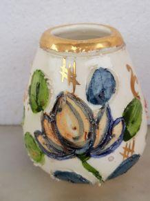 Petit vase fleurs cloisonnées type Monaco