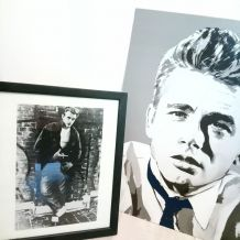 Collection horloge, cadre.... James Dean