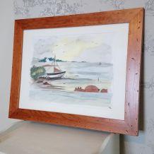 """Cadre aquarelle """"Un coin de Bretagne"""""""