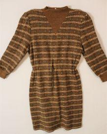 Robe pull laine vintage 80 tricot maille neuve