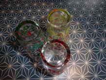 Lot 3 verres orangeade années 70'S